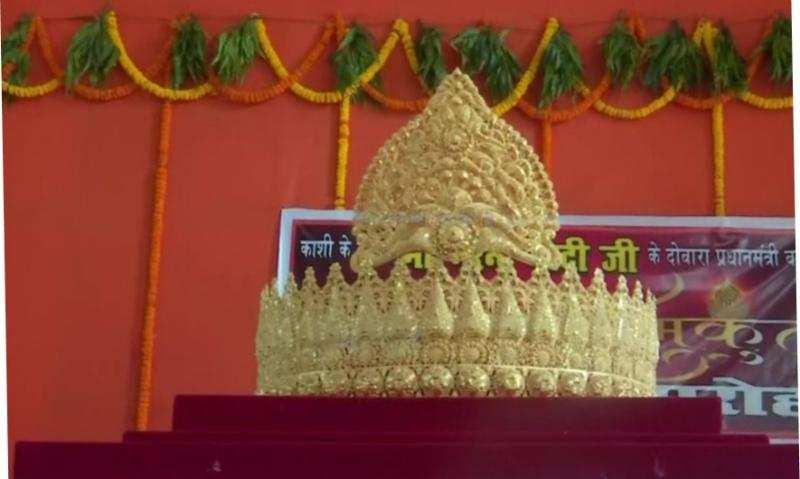 'മോദിജയന്തി' യിൽ  ഒന്നേകാൽ കിലോ സ്വർണകിരീടം നേർച്ചനൽകി ഭക്തൻ